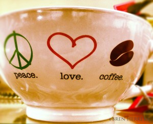 PeaceLoveCoffeeMug