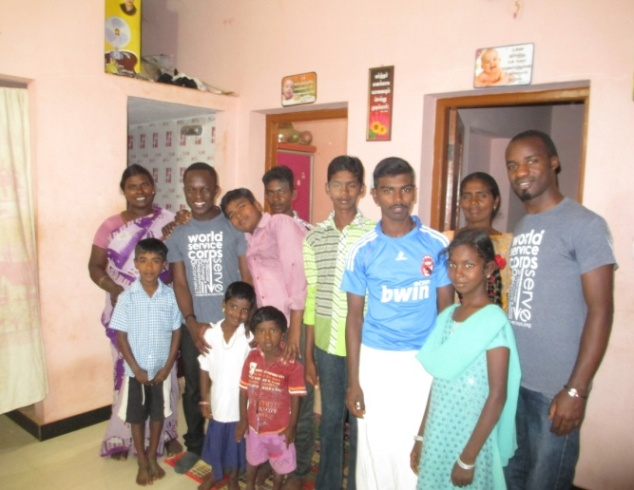 """Lawson Mushibwe (far right) with Wednesday prayer cell group, and WSC partner, Patrick Chunda (left)."""